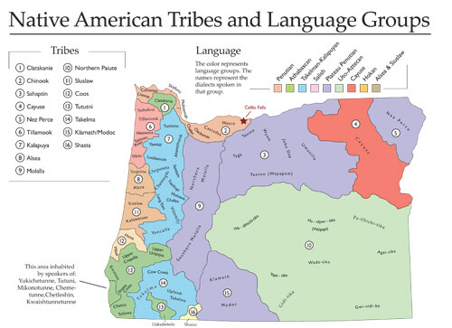 Native American Tribes from student atlas of oregon