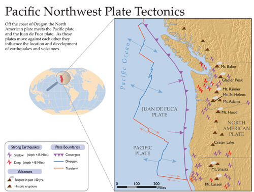 plate tectonics from student atlas of oregon