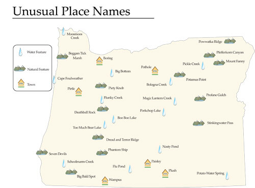 unusual place names from student atlas of oregon