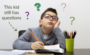 boy with questions