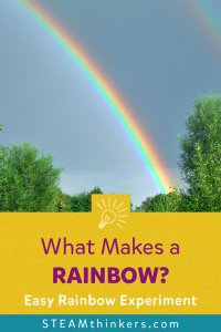 what makes a rainbow easy experiment pinterest