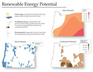 renewable energy potential oregon from student atlas of oregon