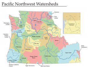 pacfici northwest watersheds from student atlas of oregon